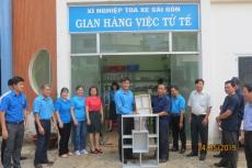 Gian hàng Việc tử tế của Xí nghiệp Toa xe Sài Gòn hưởng ứng Tháng Công nhân 2019