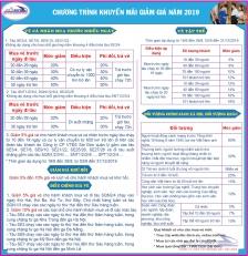 Chương trình giảm giá sau hè năm 2019