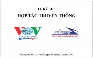 Lễ ký kết hợp tác truyền thông giữa Công ty CP Vận tải Đường sắt Sài Gòn và Kênh VOV Giao Thông
